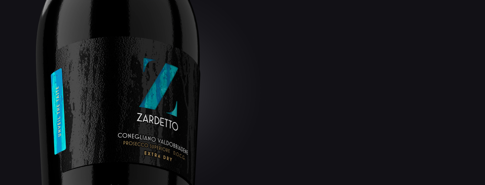Closed Label on the bottle of Zardetto's Prosecco Superiore Extra Dry